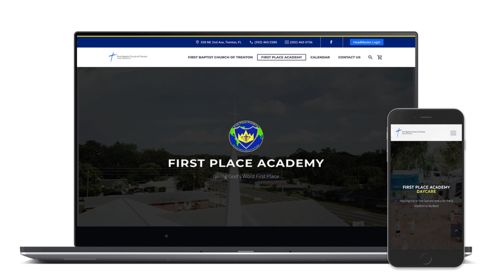 first baptist church of trenton and first place academy final website redesign