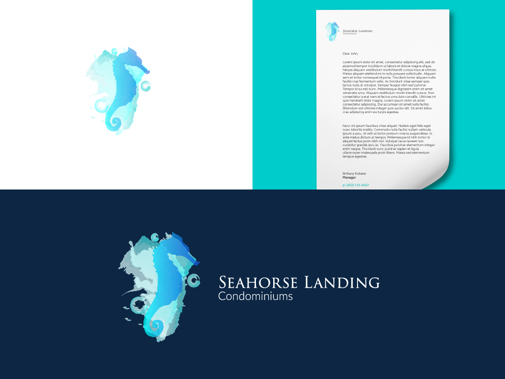 seahorse landing condominiums branding