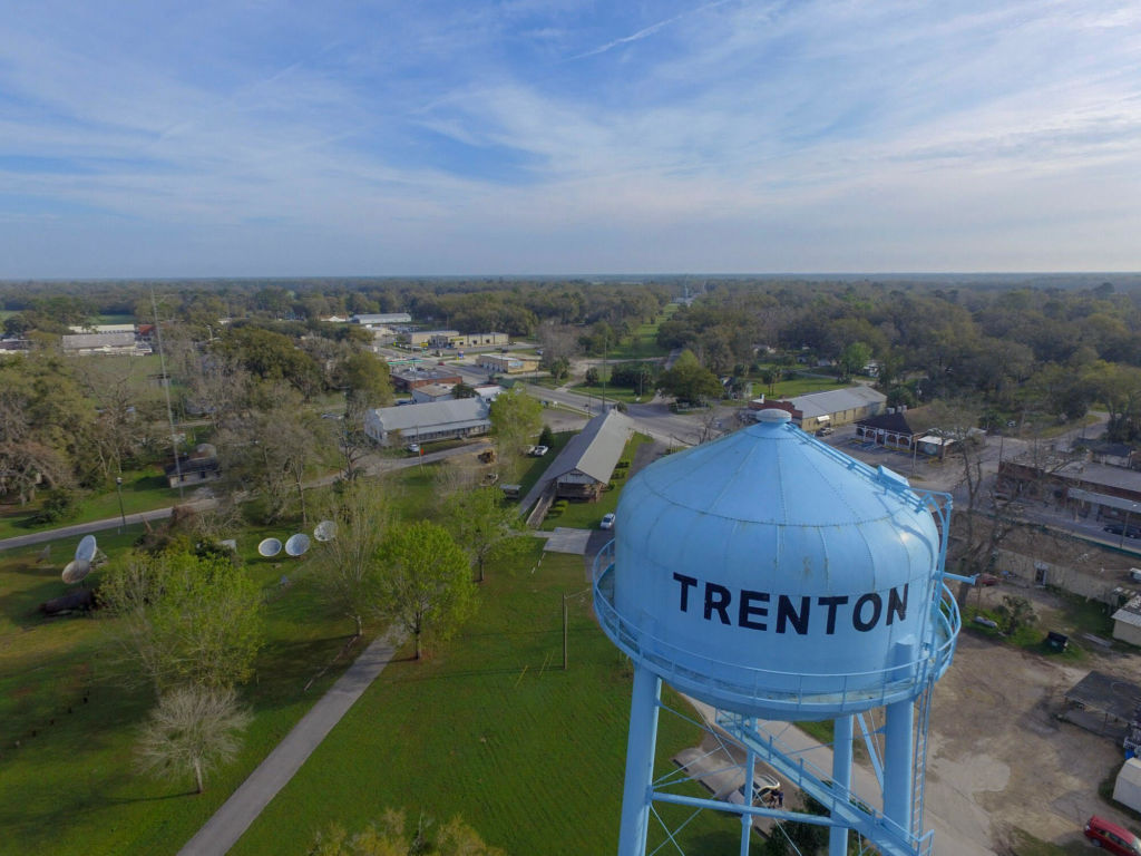 trenton florida aerial view with water tower